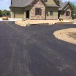 A newly paved driveway