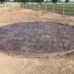 A decorative concrete pad